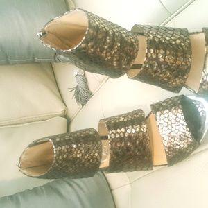 Jessica Simpson Bronze Heels